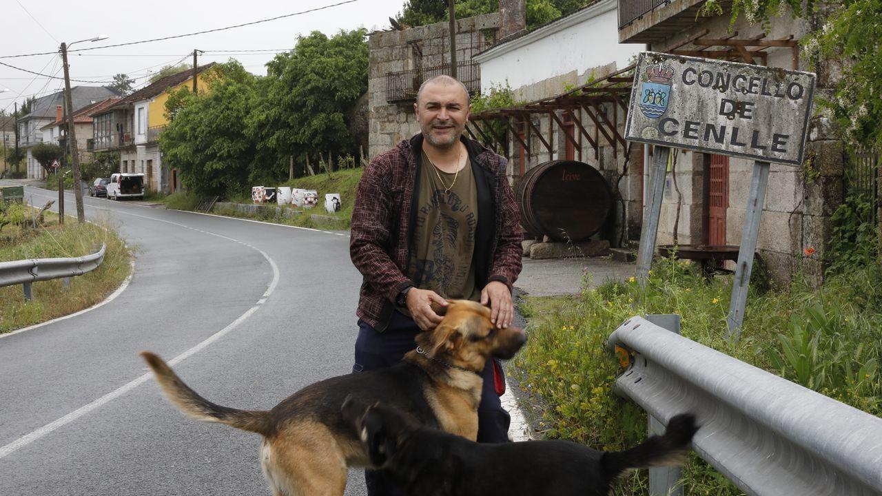 Ana Villarino, alcaldesa de Oímbra:«É moi posible que pases a Verín ou Portugal».Bernardino Domínguez vive en el límite entre Ribadavia y Cenlle