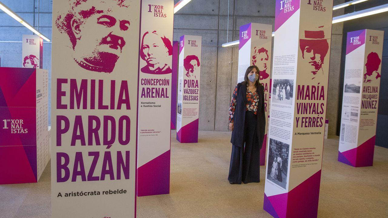 La escritora Emilia Pardo Bazán (A Coruña, 1851-Madrid, 1921)