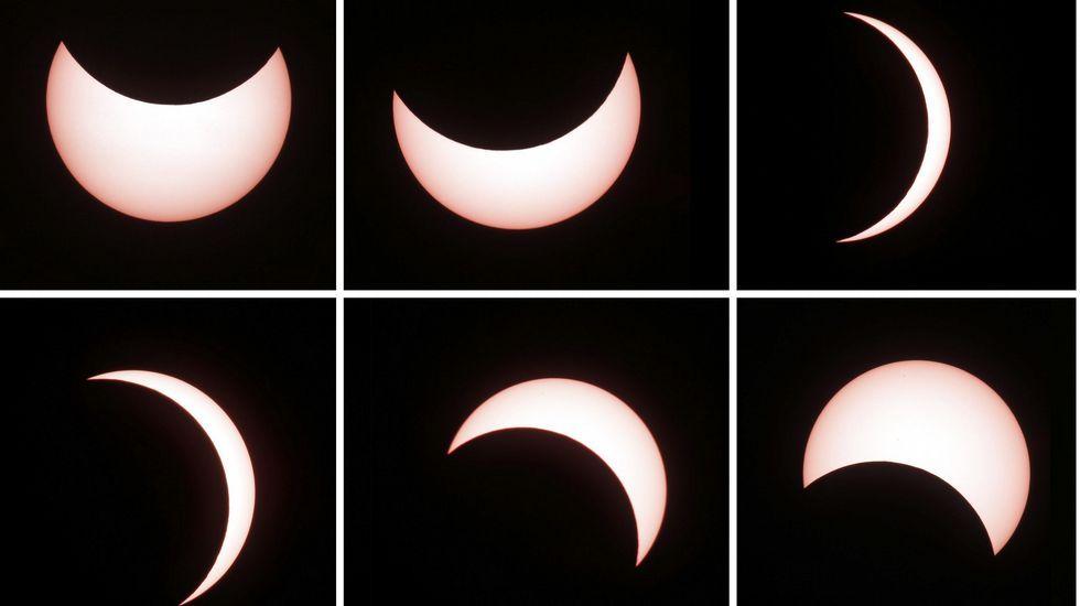 Así se vio el eclipse desde Yakarta, en Indonesia