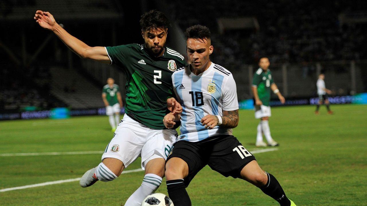Néstor, en un duelo anterior frente a Argentina