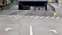 Calles totalmente vacías en Oviedo