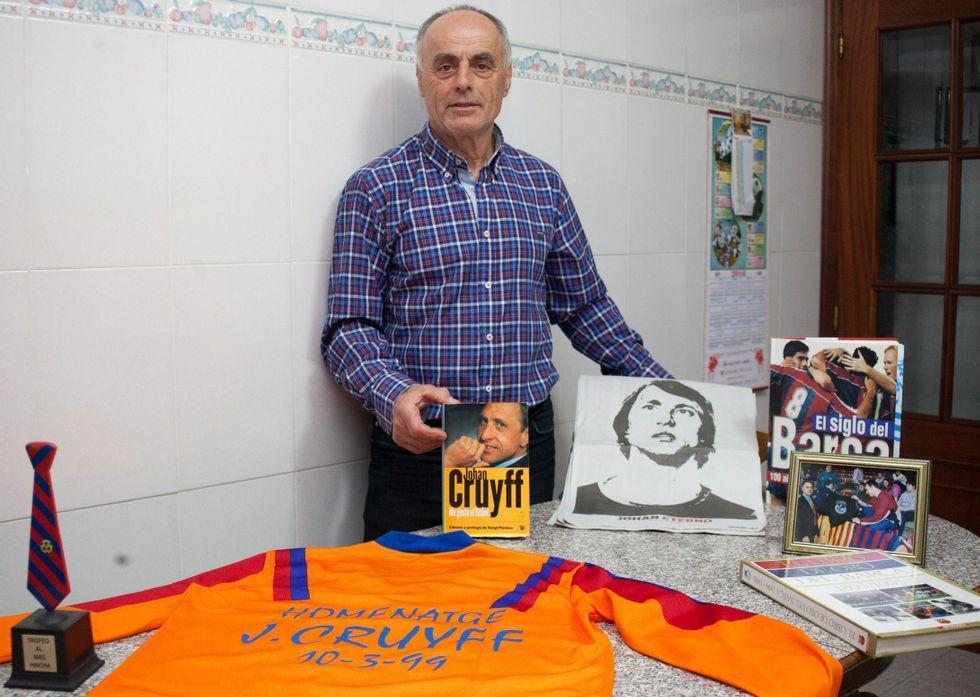 El Barça da su último adiós a Cruyff.Camiseta en homenaje a Johan Cruyff
