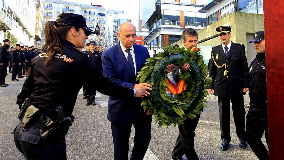 Inauguración de la comisaría de Vigo.El alcalde de Beade en su despacho, en una foto de archivo
