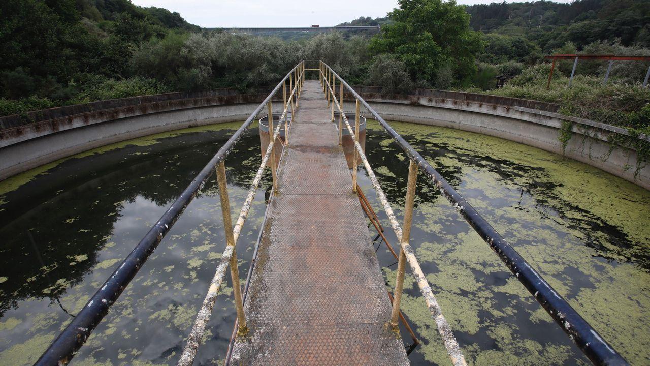 La vieja depuradora de Lugo en estado de abandono y desvalijada