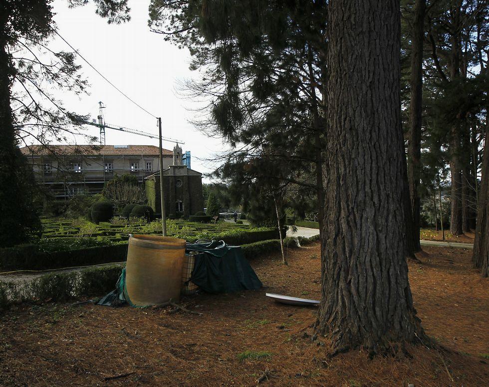 El edificio del pazo está en la actualidad en obras.