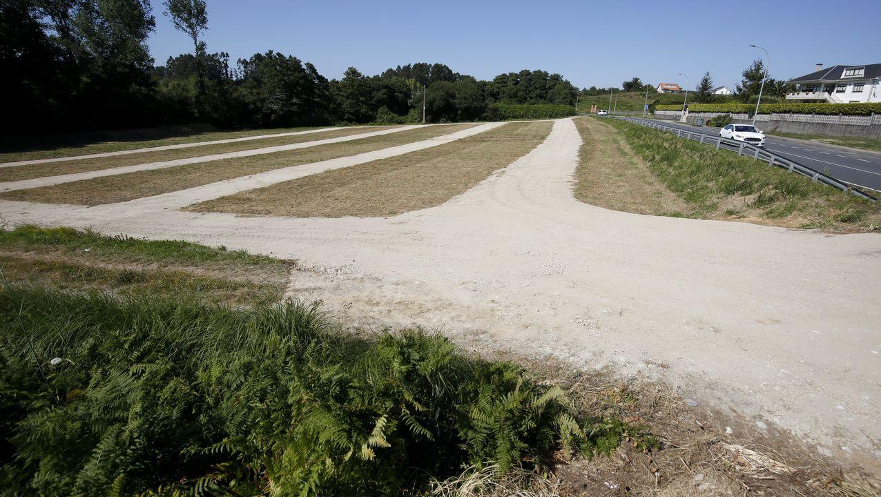 Obras de uno de los estacionamientos que se están habilitando en el municipio