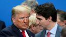 Trump y Trudeau, en la cumbre de la OTAN