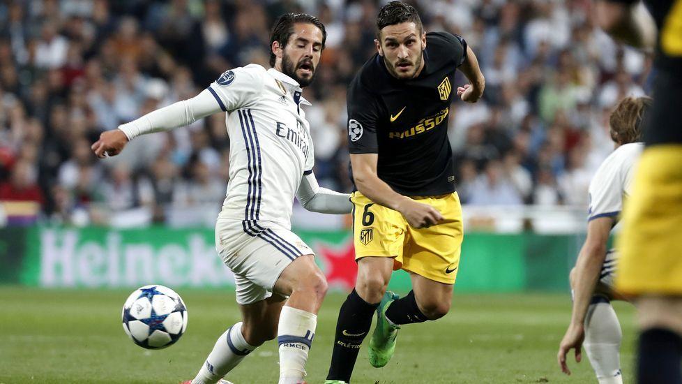 El Real Madrid-Atlético, en fotos