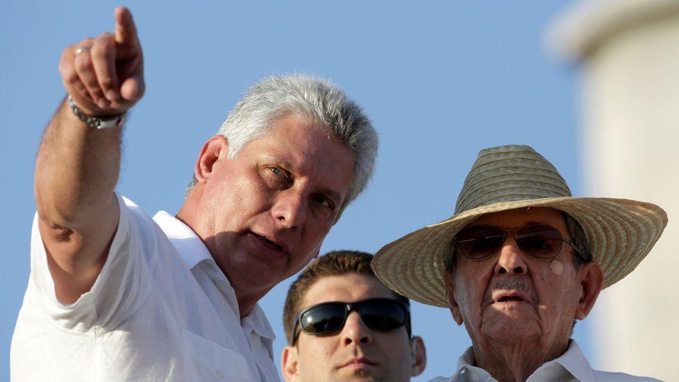Díaz-Canel, con Raúl Castro