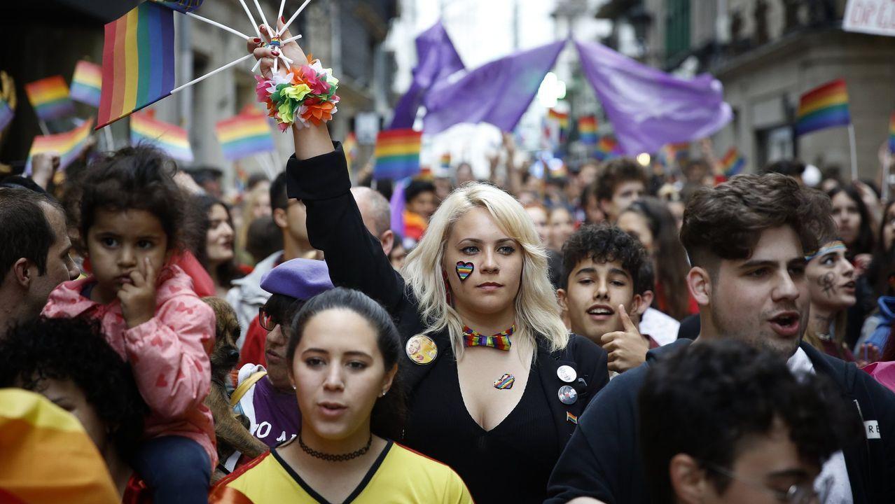 El desfile del Orgullo 2019 toma Madrid.Adrián Barbón en la Junta General