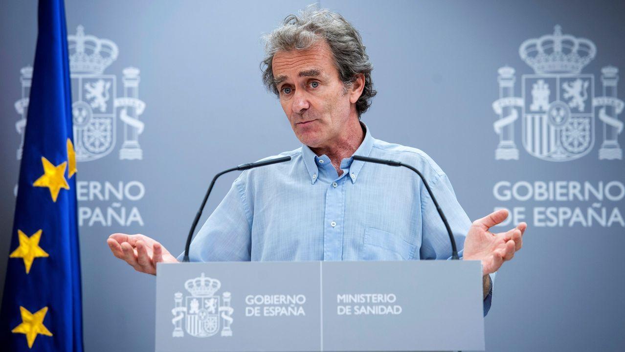 Fernando Simón, en la rueda de prensa de evolución del covid-19 en España