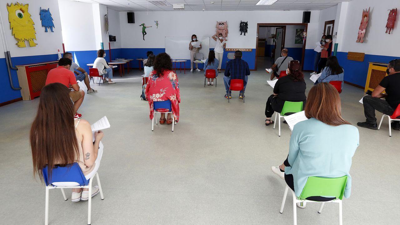 Reunión con los padres en una escuela de Vilagarcía