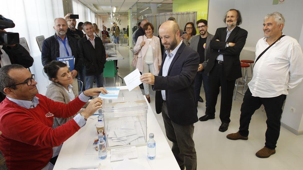 Luís Villares, candidato de En Marea.