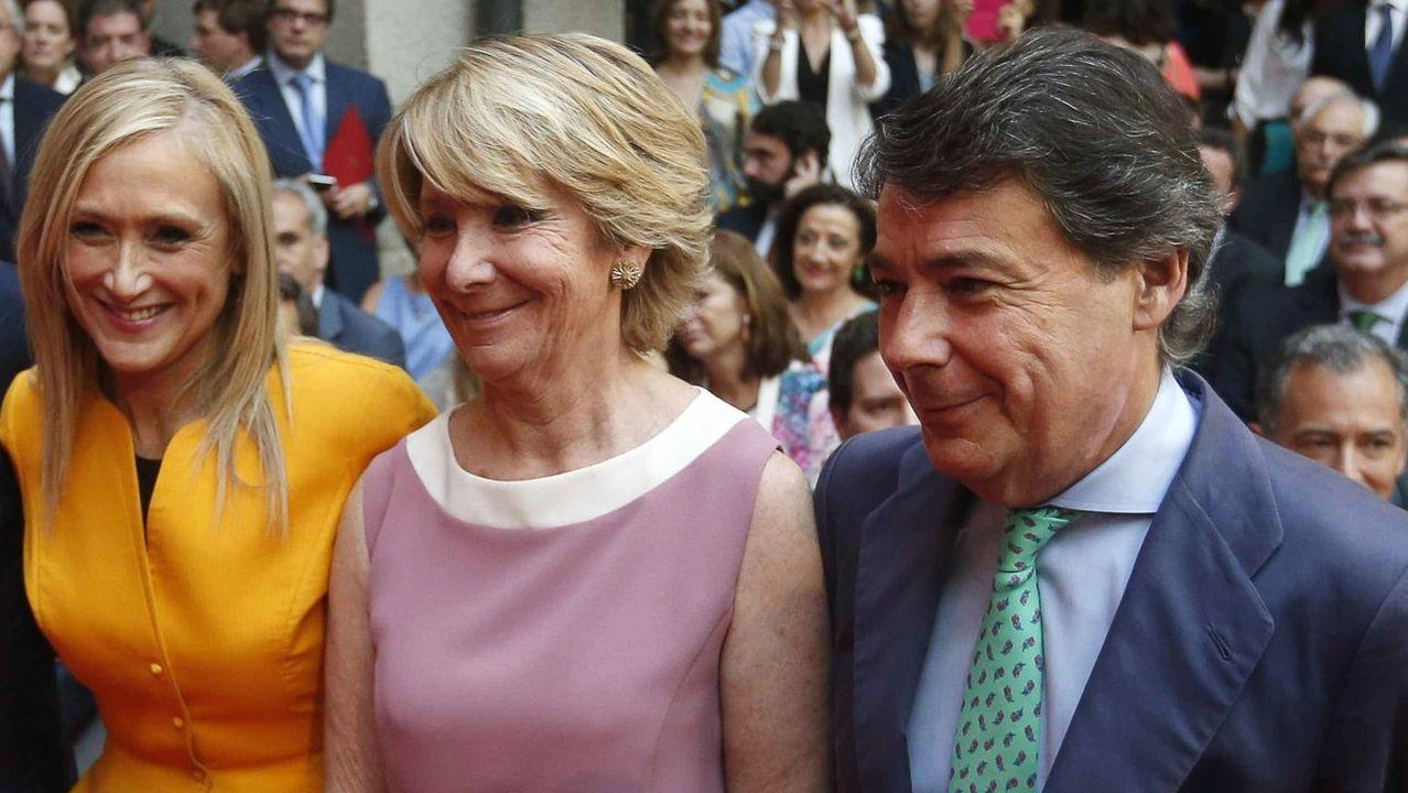 Los expresidentes de la Comunidad de Madrid Cristina Cifuentes, Esperanza Aguirre e Ignacio González, imputados en el caso Púnica