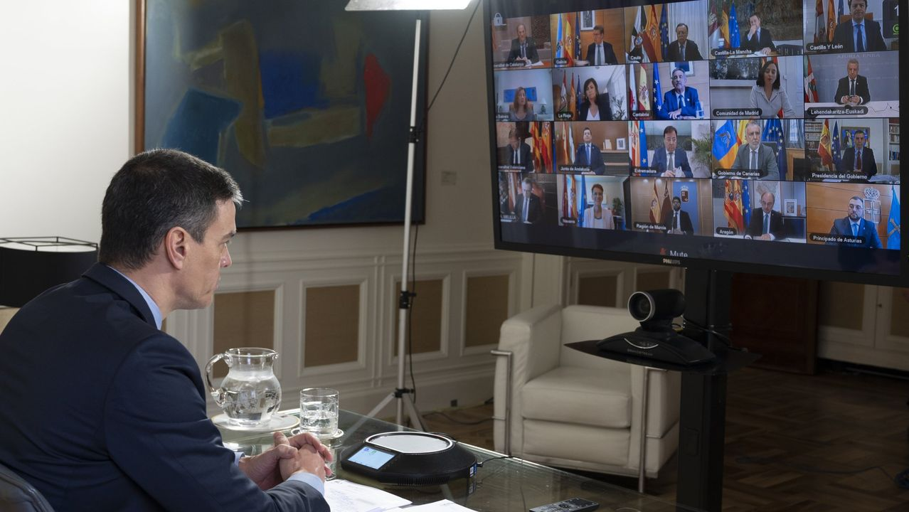 La pandemia en el mundo.Juan Guaidó, junto a la ministra de Exteriores española, durante la visita del 25 de enero a Madrid