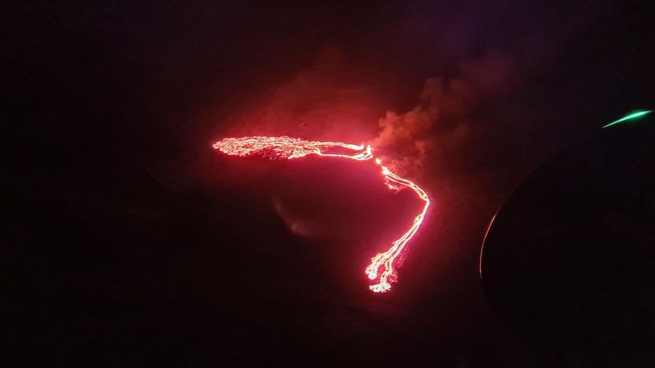 Entra en erupción el volccán Geldingadalur, situada cerca de Reikiavik