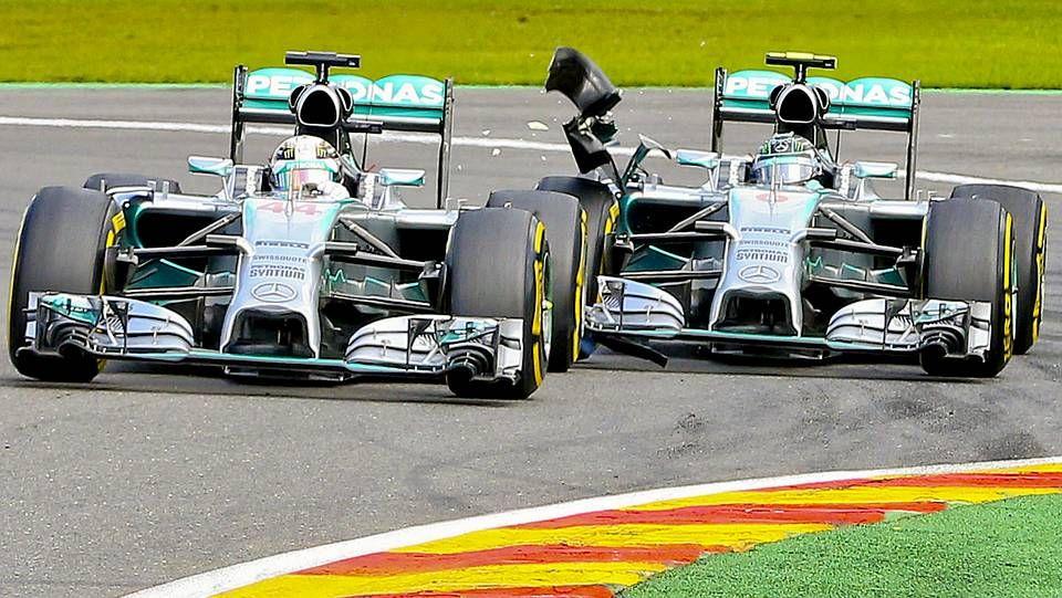 El roce entre Rosberg y Hamilton