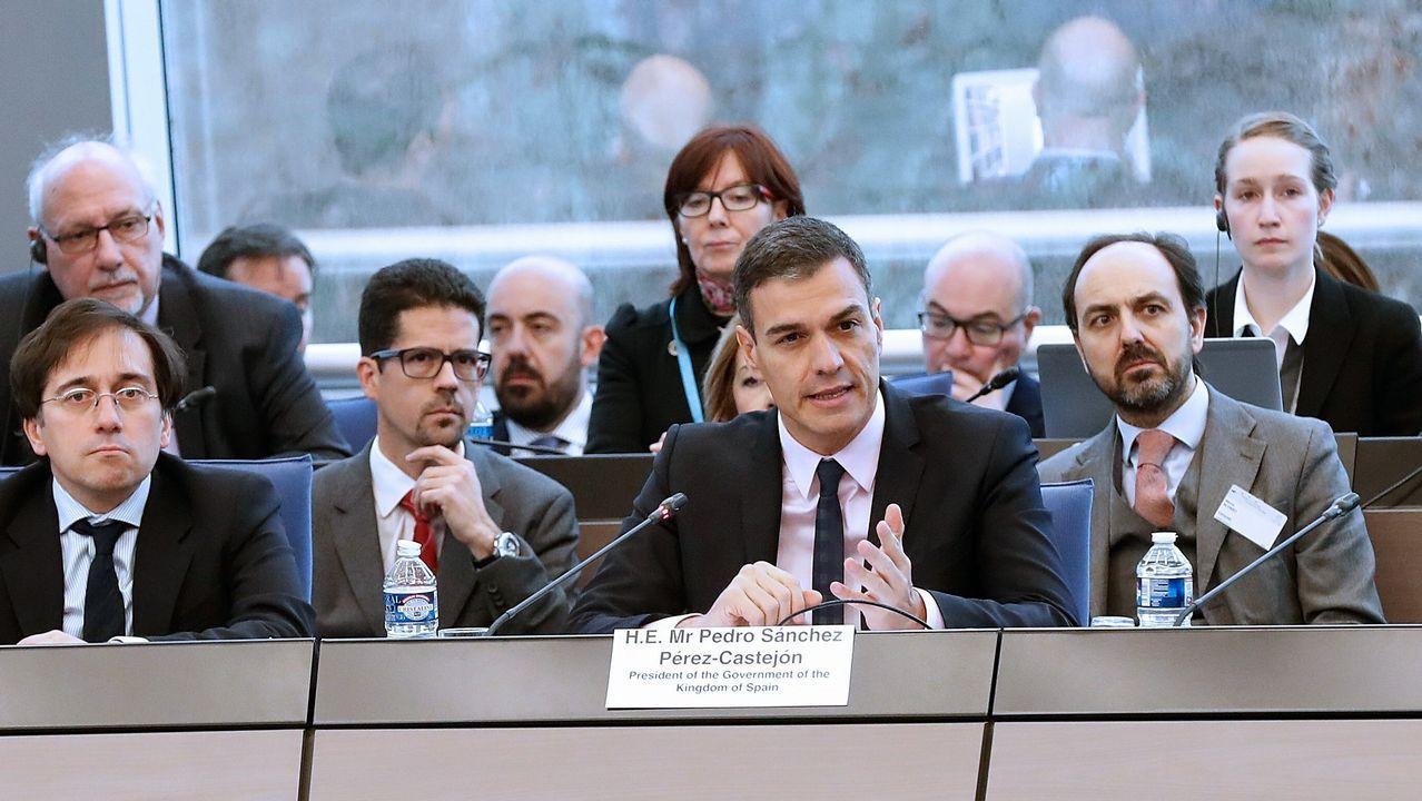 Sánchez, en su intervención en el comité de ministros del Consejo de Europa, en Estrasburgo