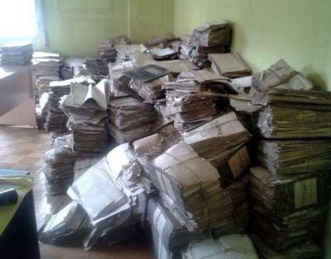 Estado en el que se encontraban los archivos judiciales.
