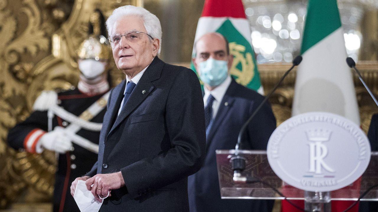 El presidente italiano, Sergio Mattarella