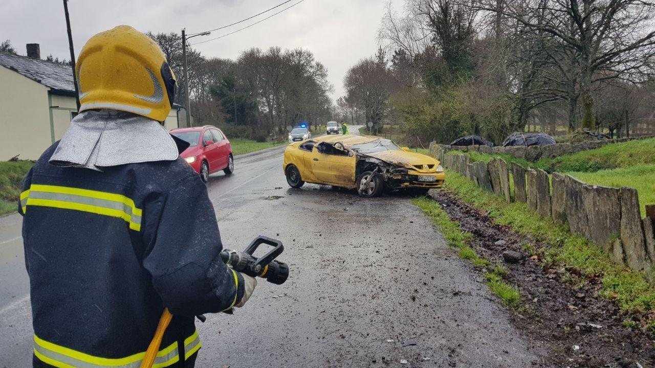 Intervención del GES de Guitiriz en un accidente que tuvo lugar en el año 2018