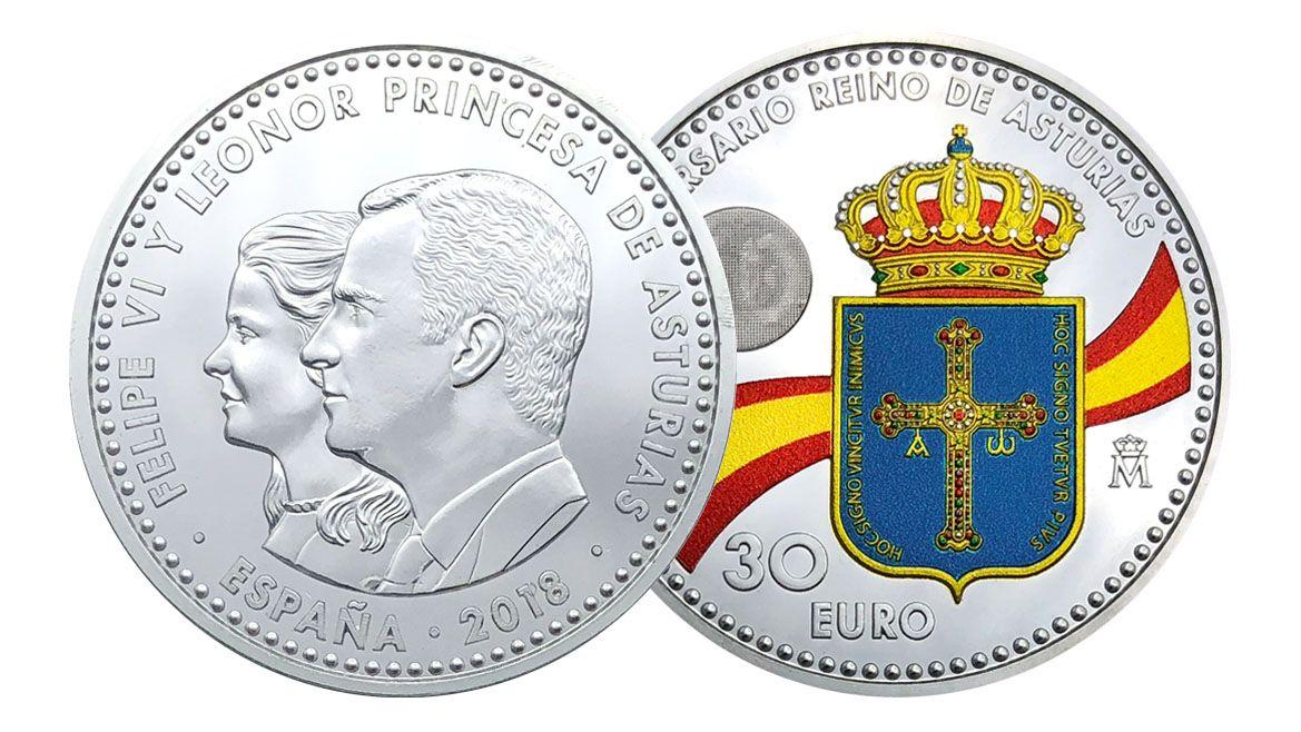Niños de un colegio de Murcia gritan en gallego: «Unidos, moi fortes».Moneda conmemorativa con la imagen de la Princesa Leonor
