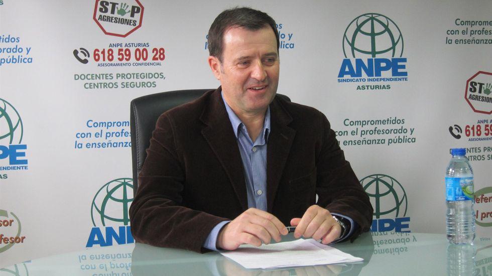 El presidente de ANPE Asturias, Gumersindo Rodríguez.El presidente de ANPE Asturias, Gumersindo Rodríguez