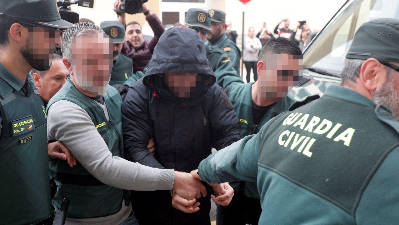 El autor confeso de la muerte de Marta Calvo, Jorge Ignacio P.J., a su llegada al Juzgado 6 de Alzira (Valencia)