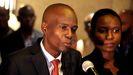 El asesinado presidente de Haití, Jovenel Moise, junto a su esposa, Martine Moise, que ha resultado herida en el ataque, en una imagen de archivo.
