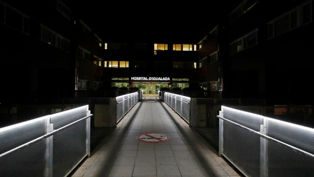 La entrada al hospital de Igualada