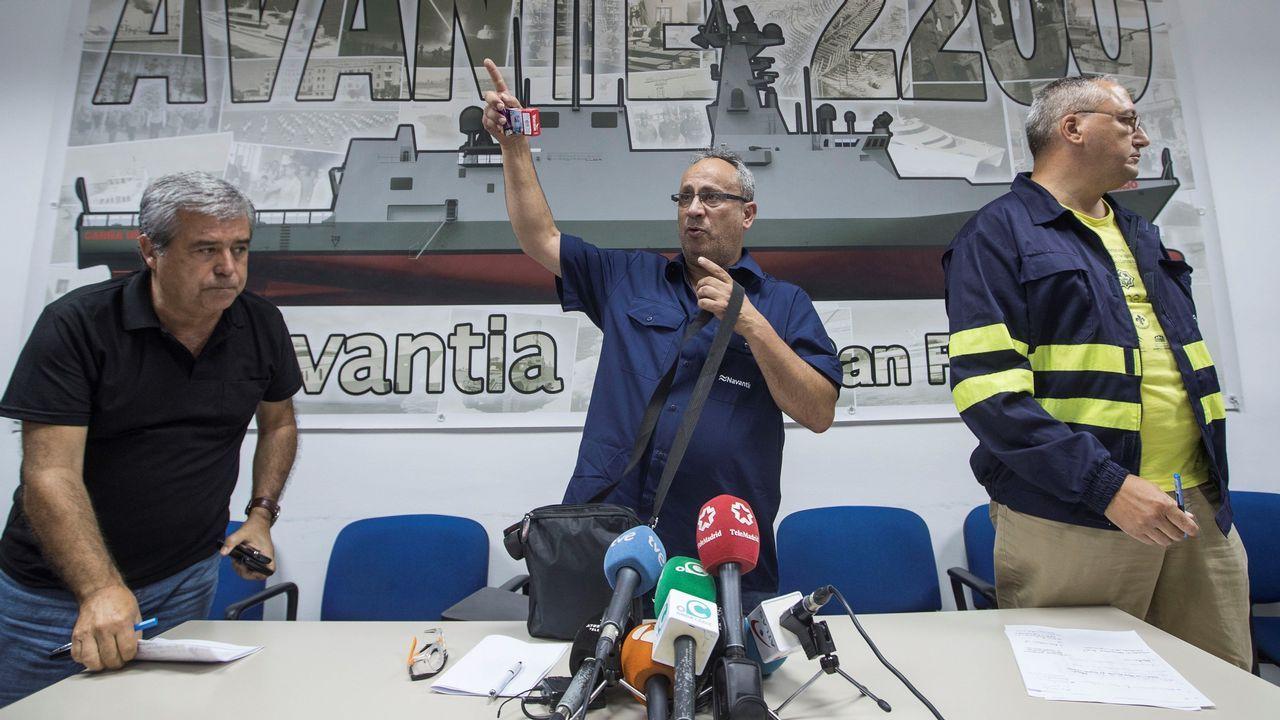 «Las bombas españolas no van a matar yemeníes».El presidente del comité de empresa del astillero de Navantia San Fernando, Jesús Peralta