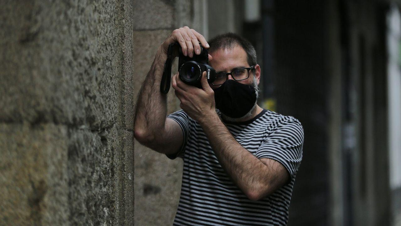 Armiche Bello, alquimista canario asentado en Galicia.Iluminación en la catedral de Ourense