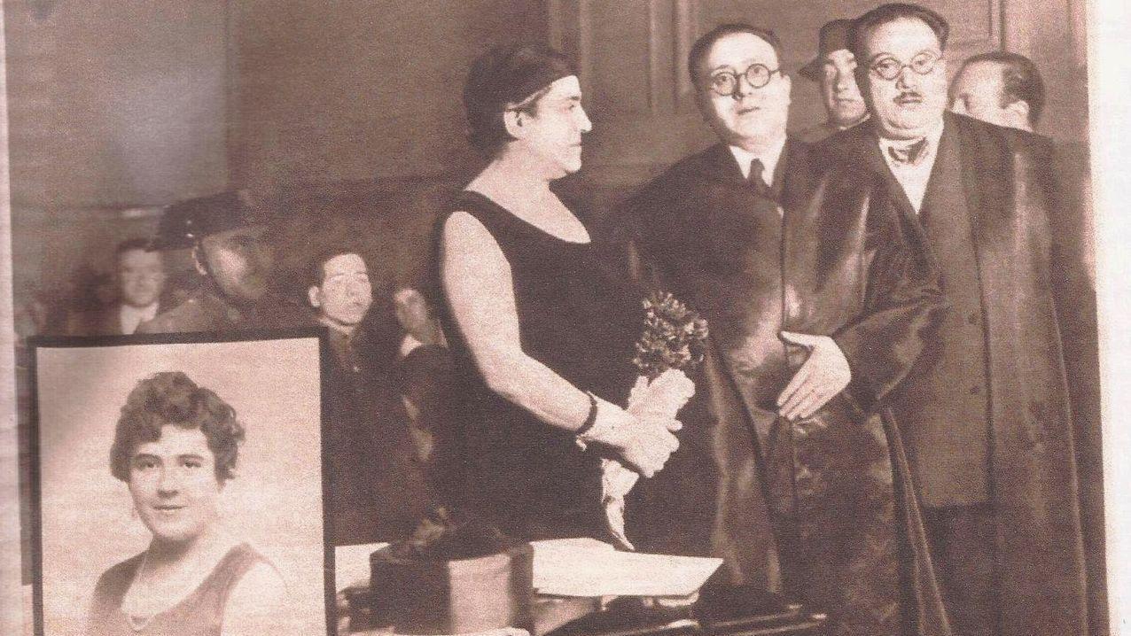 Xesús Fraga, terceiro esquerda, con Luis González Tosar, César Lorenzo e Antón Vidal Andíón