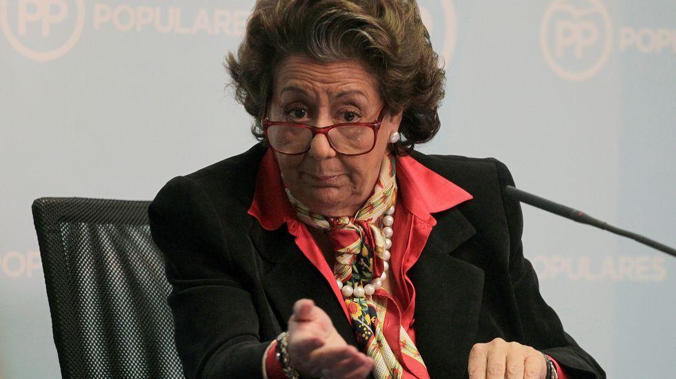 Este año, Rita Barberá se vio implicada en el caso de supuesto blanqueo de capitales en el PP valenciano. En marzo, compareció ante la prensa para insistir en que no hubo caja B durante su mandato.