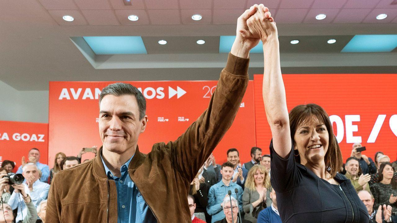Fractura en el Gobierno de coalición a cuenta de la ley de libertad sexual.El presidente Pedro Sánchez apoyó ayer en Vitoria a la candidata socialista a lendakari Idoia Mendia