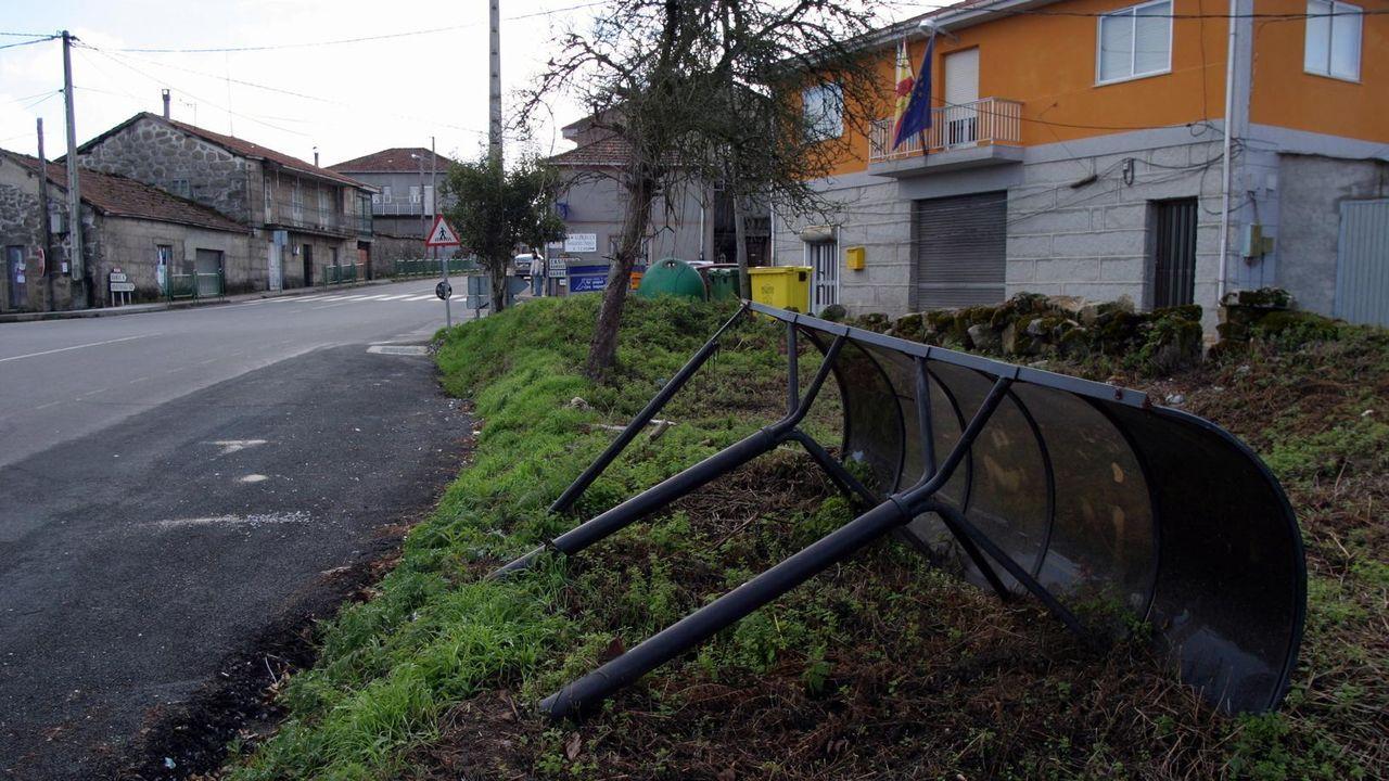 Las imágenes de la etapa entre Mos y Puebla de Sanabria.En Celanova se cambiarán 300 luminarias.