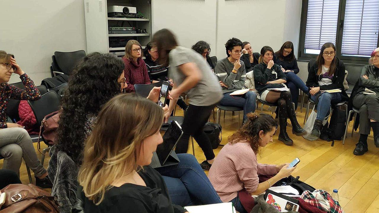 Reunión de la coordinadora para preparar el 8-M, día internacional de las mujeres