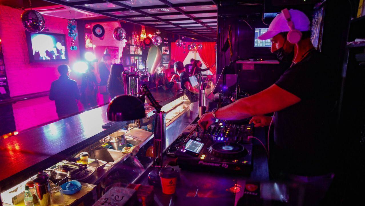 Un bar de Barcelona que participó el mes pasado en un proyecto piloto de apertura del ocio nocturno.