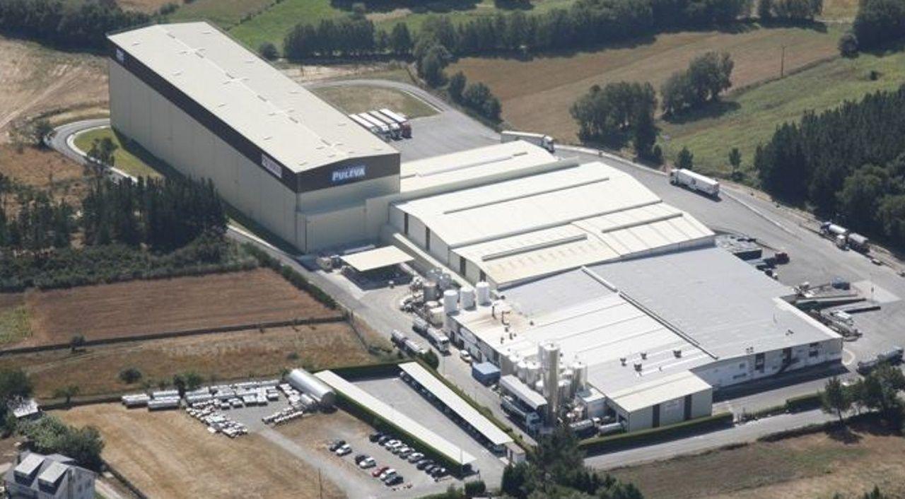 Vista aérea de la planta vilalbesa de Lactalis