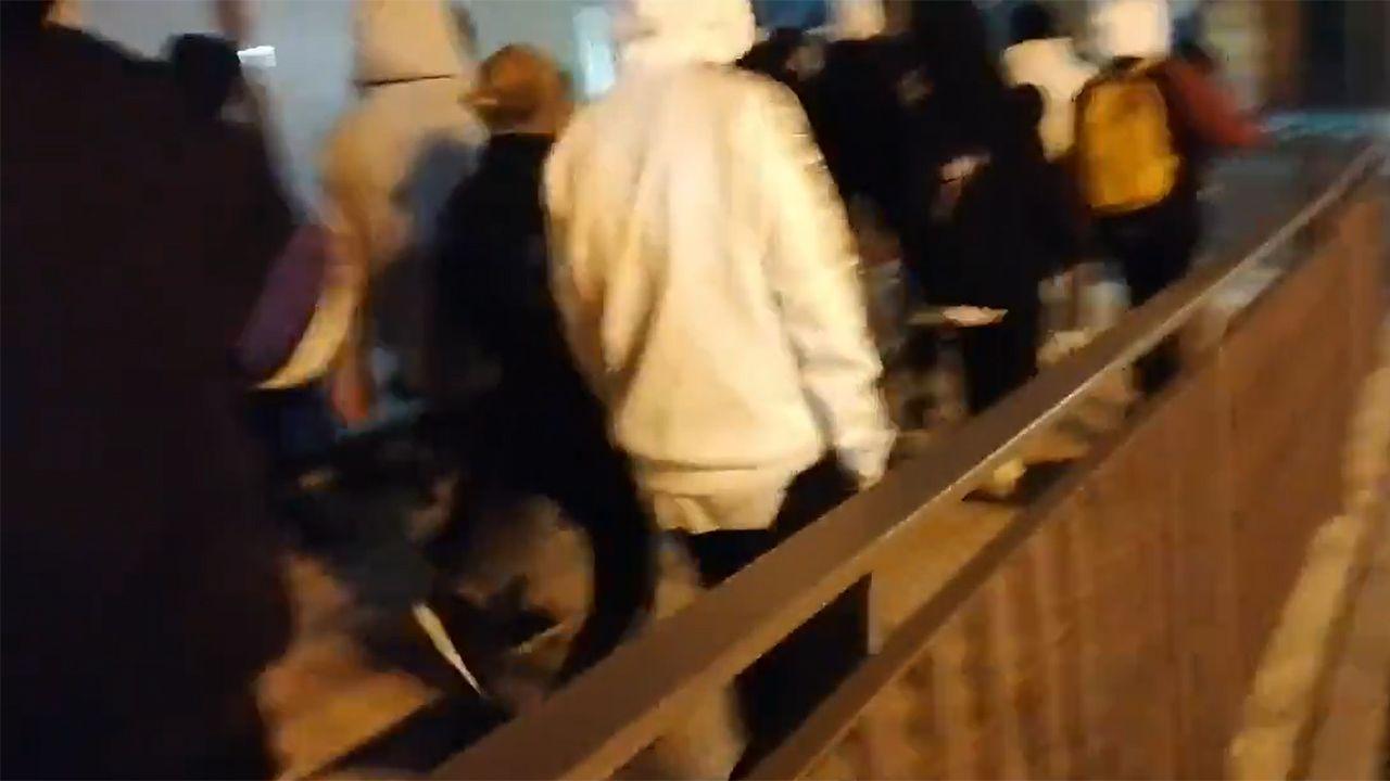 Manifestación contra el toque de queda.Imagen de archivo de un operativo de los Mossos