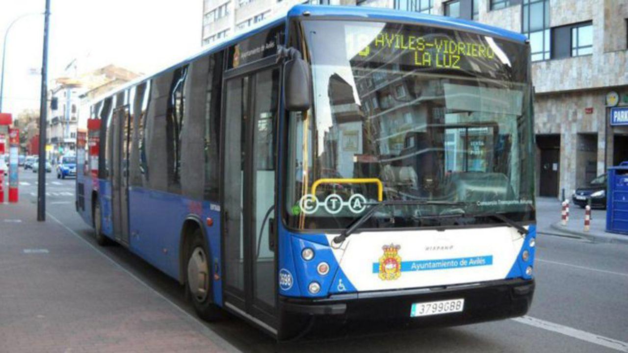 Autobús de línea en Avilés