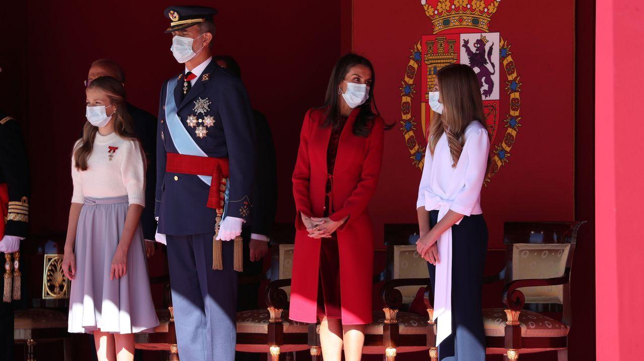 La reina Letizia rompe la tradición en la fiesta del 12O.Año 2019