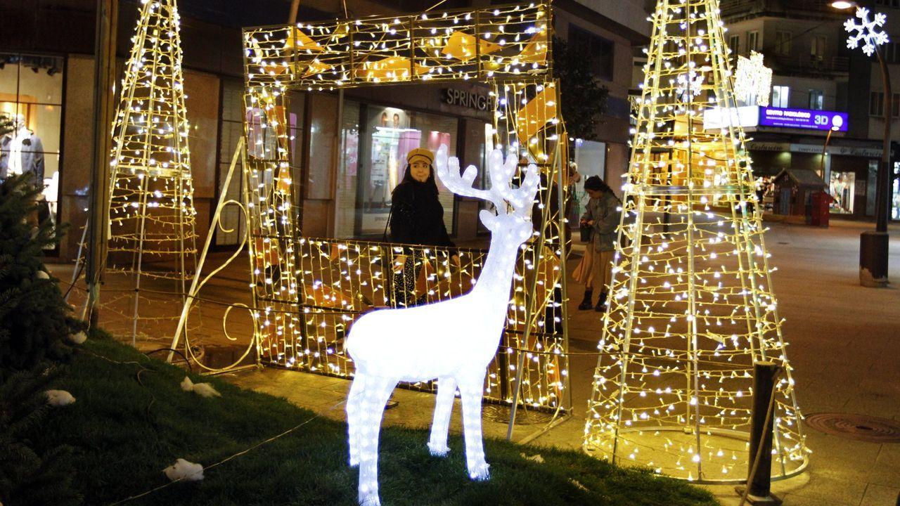 Luces de Navidad instaladas en Ourense por Creaciones Luminosas el año pasado