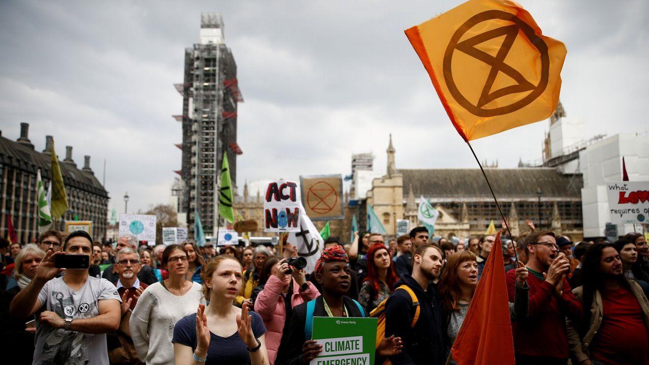 Extinction Rebellion. Este movimiento social nació en octubre del 2018 para influir en las decisiones del gobierno británico en materia de medio ambiente. La última movilización se produjo el pasado domingo en Londres, coincidiendo con la celebración del Día de la Madre