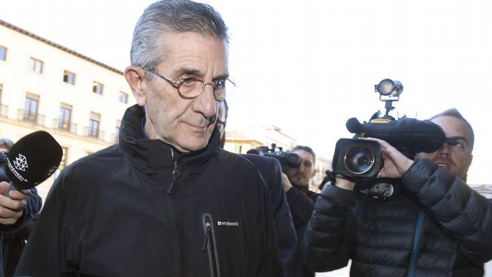 El padre Román, a su llega al juicio