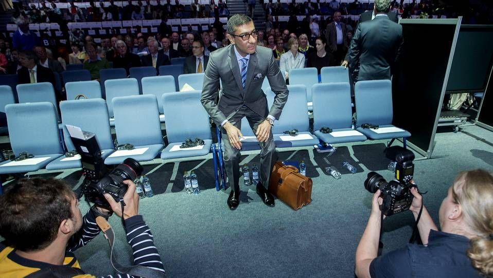 El presidente y director general de Nokia, Rajeev Suri, hoy durante la presentación anual de las cuentas de la compañía