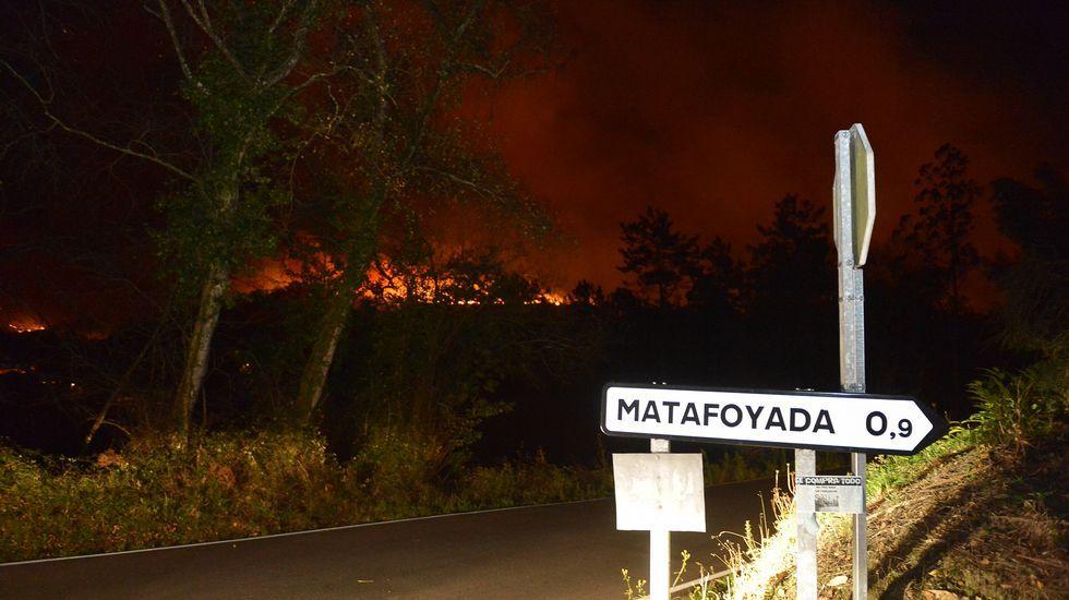 Así quedaron las casas de alcanzadas por el fuego.