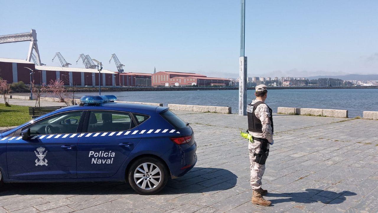 El despliegue de la fuerza de la Armada, en Fene