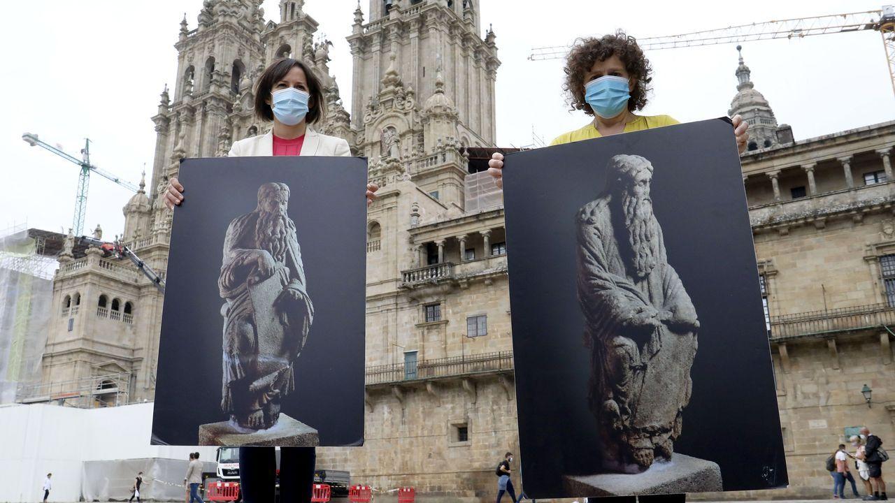 Ana Pontón y Goretti Sanmartín solicitan que la Xunta demande la devolución de las estatuas del Mestre Mateo