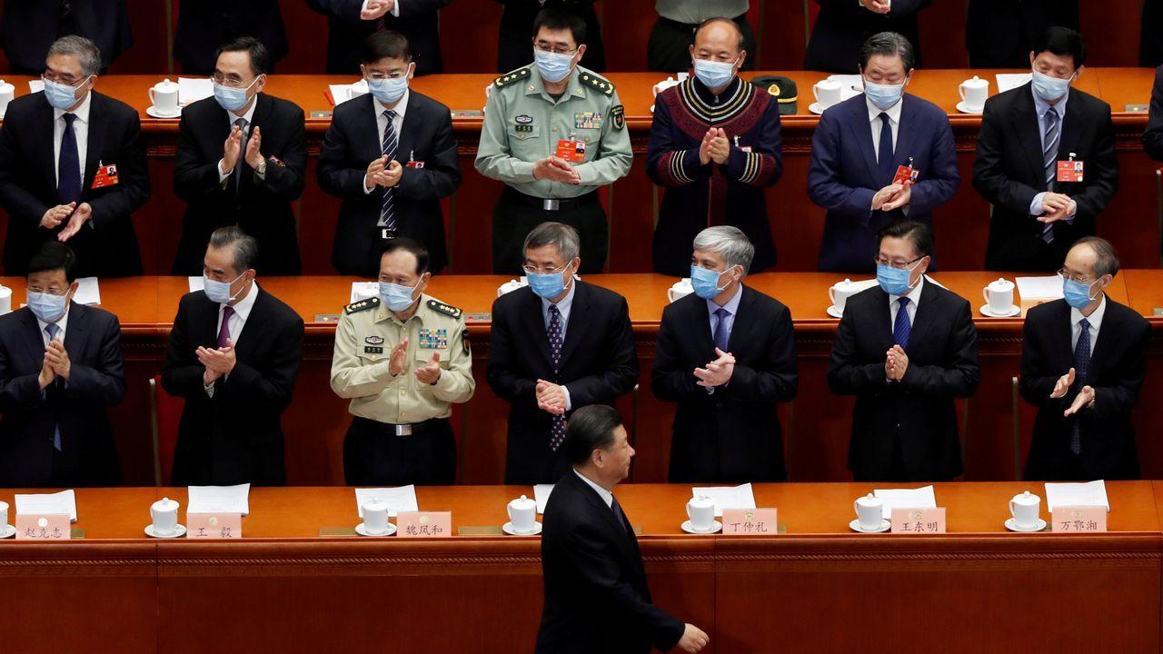Xi Jinping, a su llegada el jueves a la sesión de apertura de la Conferencia Consultiva Política del Pueblo Chino